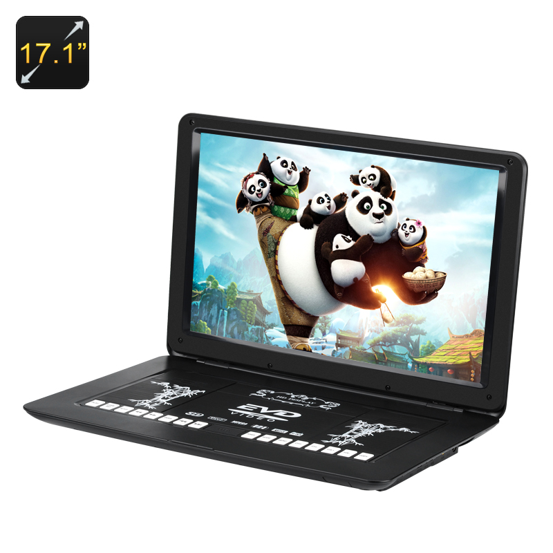 Wholesale 17.1 Inch Portable DVD Player (Anti Shock, Region Free, 1366x1280, USB/SD/AV Port)