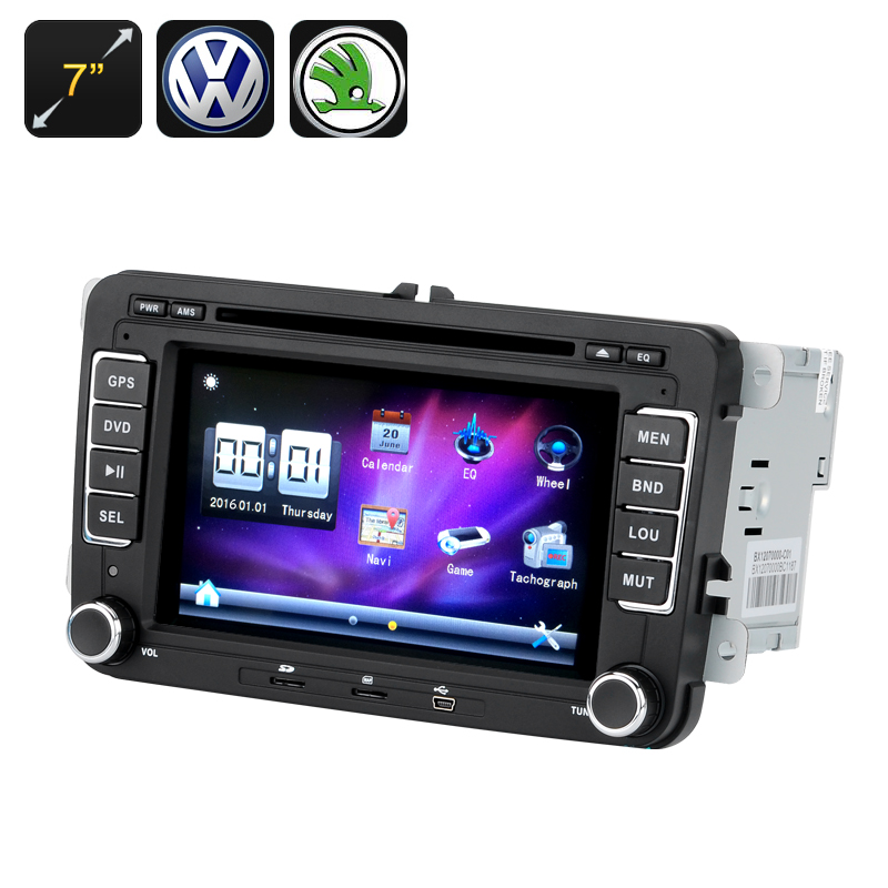 Wholesale 7 Inch Touchscreen Region Free 2 DIN Car DVD Player with GPS, Bl