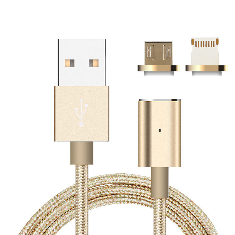 Wholesale Magnetic USB Charging Data Cable with Micro USB and 8 Pin Port - For Tablet, Laptop, Android, Apple