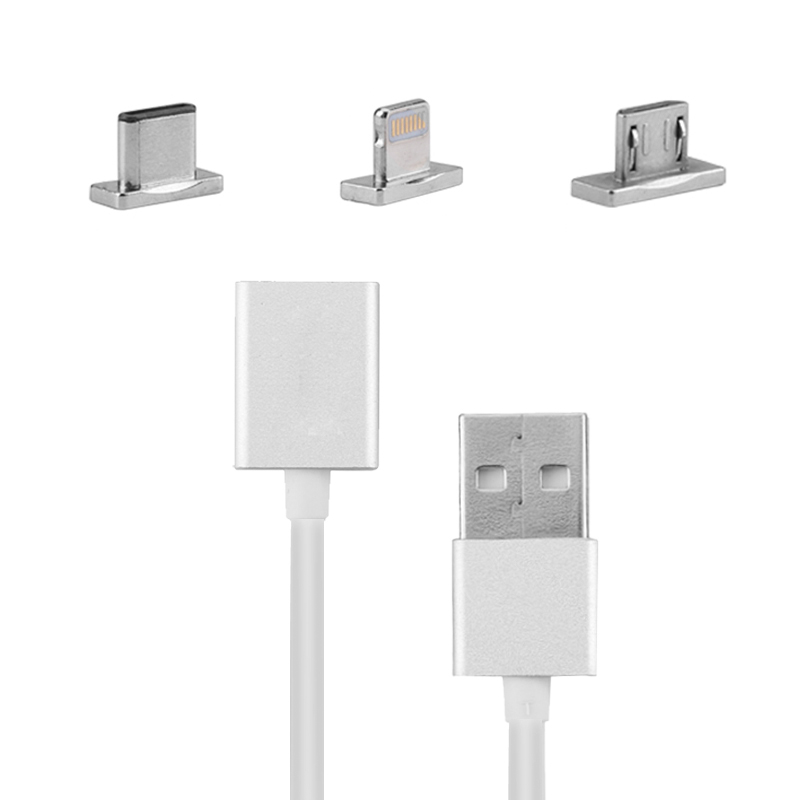 Wholesale 3 In 1 Magnetic USB Cable for iPhone, Tablet PC, Laptop, Android (Charging + Data Sync, 8 Pin, Micro USB, Type C USB)