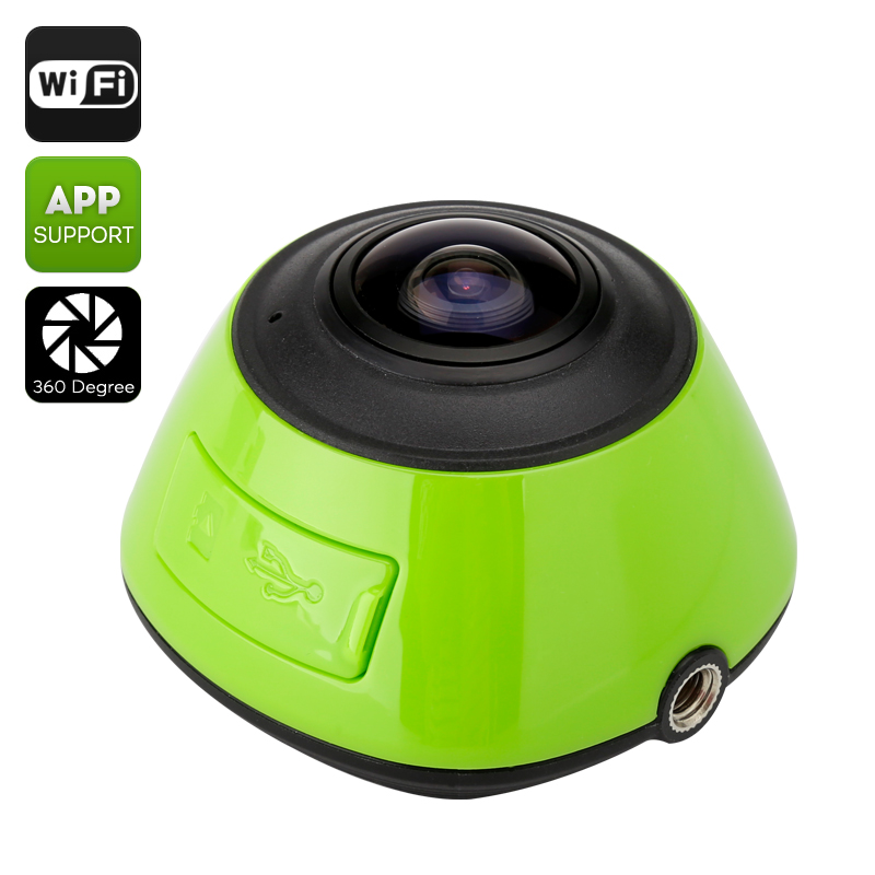 Wholesale 360 Degree HD Action Camera (1/4 Inch CMOS, 1280x1024, Mobile Phone Access, SD Record)