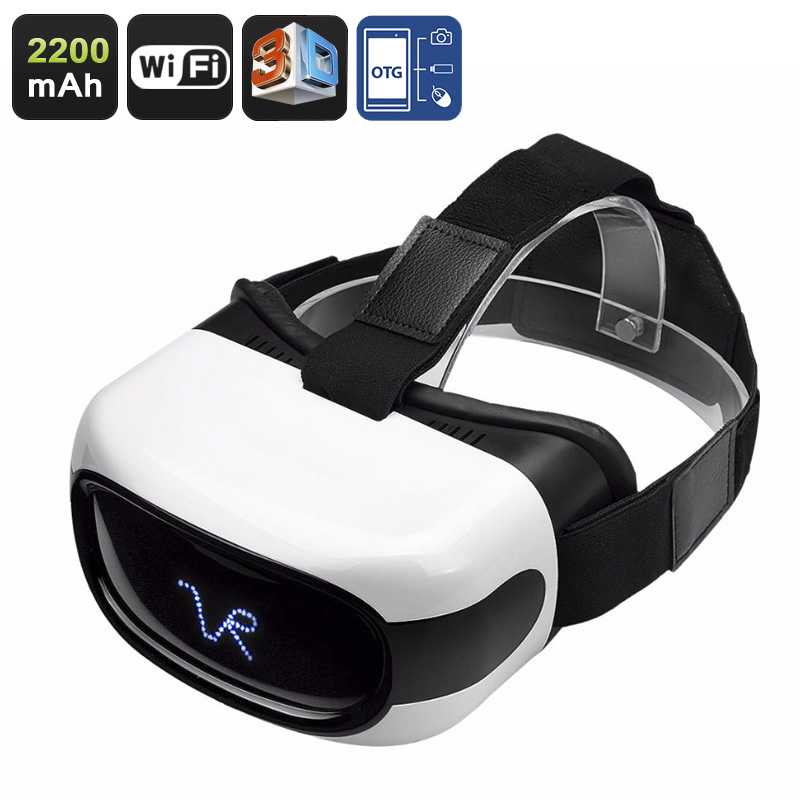Wholesale 5 Inch HD 3D Android VR Glasses (Wi-Fi, OTG, Quad-Core CPU, 2200mAh, 8GB)