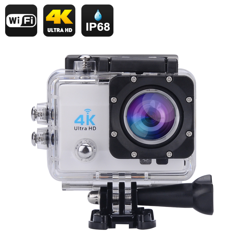 Wholesale 4K Ultra HD Wi-Fi Waterproof Sports Action Camera (16MP, HDMI, 170 Degree Wide Angle, Silver)