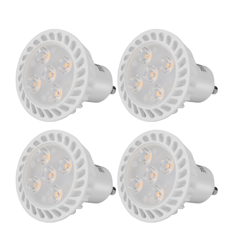 5 Watt GU10 LED Spotlights (500 Lumens, 3000K, 30000 Hour Life, 25 Degrees Beam Angle)