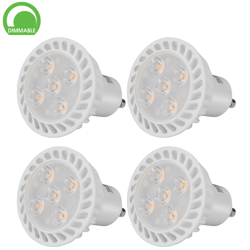 Wholesale 5W LED Spotlight (GU10 Fitting, Dimmable, 5x 1W LED, 500 Lumen, 3000K, 30000 Hours, 25 Degree Beam)