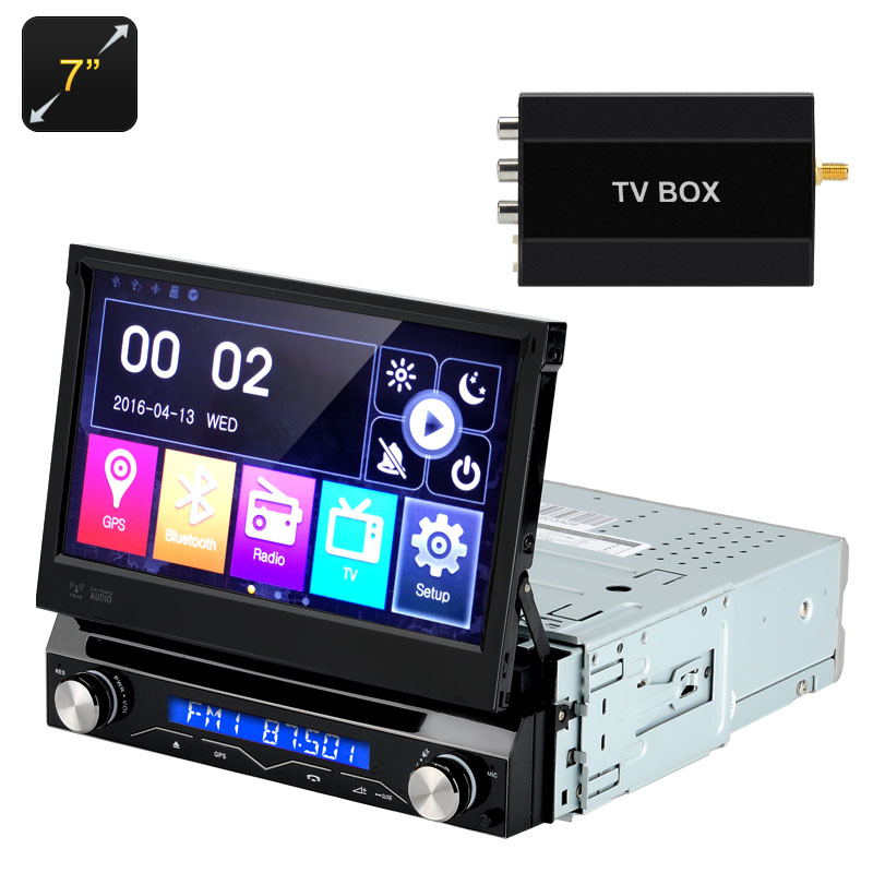 Wholesale 7 Inch 1 DIN Car DVD Player (Detachable Panel, GPS, Bluetooth, FM Radio, Region Free)
