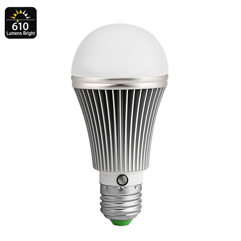 Wholesale 610 Lumen E27 LED Bulb with Light Sensor (7W, 18 LED, 4000K Color Temp, 25000 Hour Life Span)