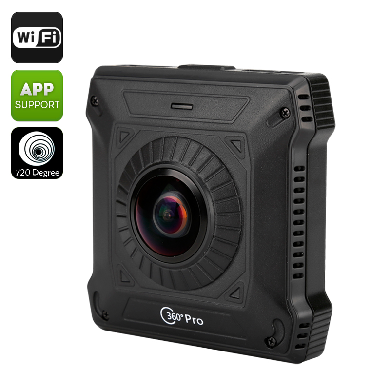 Wholesale 720 Degree View Action Camera (Two Back To Back Cameras, Wi-Fi, 1/4 Inch CMOS Sensor, SD Card Recording, H.264)