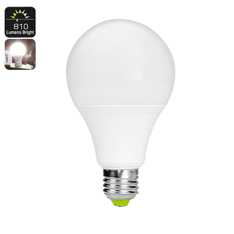 Wholesale 810 Lumen E27 LED Bulb with Light Sensor (9W, 18 LED, 4000K Color Temp, 25000 Hour Life Span)
