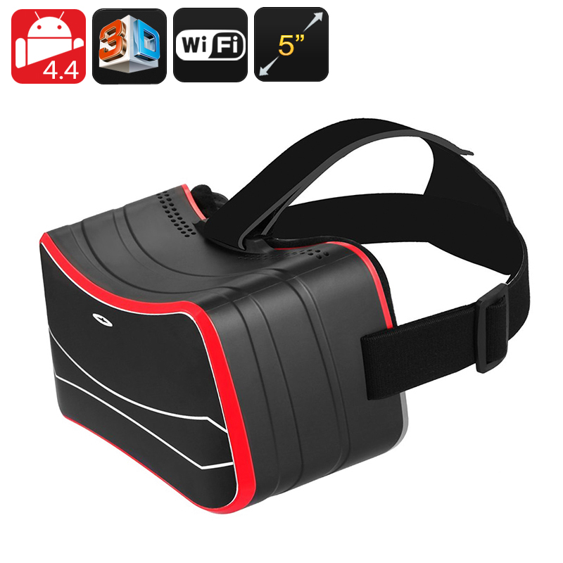 Wholesale Wi-Fi Android 3D VR Glasses with 5 Inch HD Screen and Gyroscope