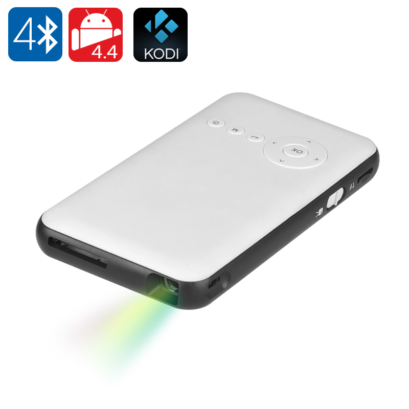 Wholesale Mini Android 4.4 DLP Projector + Smart TV (Wi-Fi, 100 Lumen, 200