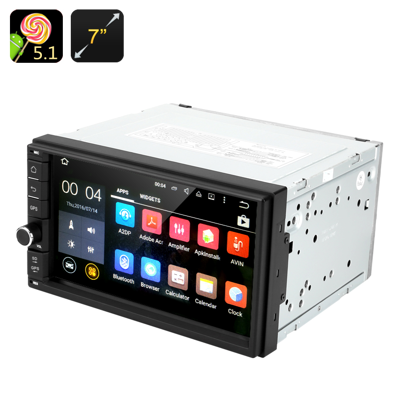 Universal 2 DIN Android 5.1 Car Stereo With 7 Inch Touch
