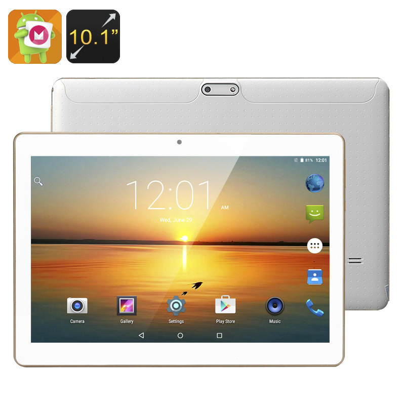 Wholesale 10.1 Inch HD Android 6.0 Tablet (OTG, Quad-Core CPU, 4500mAh, 16