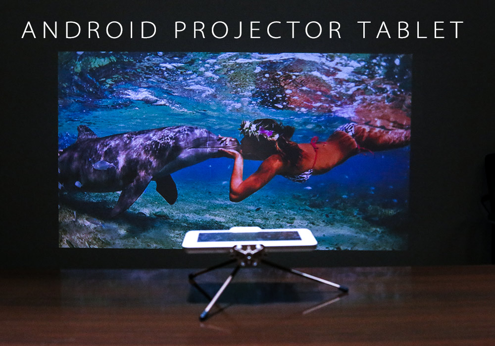8 Inch Android Tablet + 1080p DLP Projector (1280x800, Quad Core CPU, 8000mAh, 16GB)