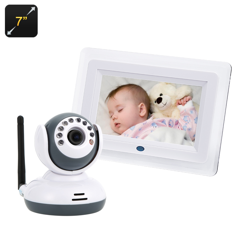 Wholesale Baby Monitor + Mini IP Camera (1/4 Inch CMOS, VOX, 7 Inch Screen, Night Vision)