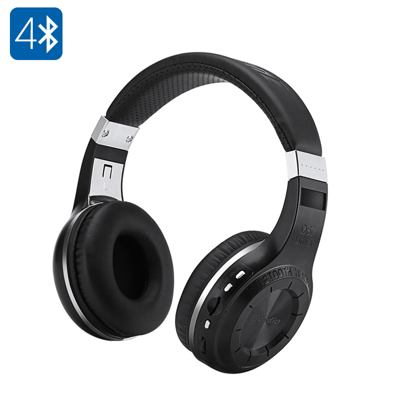 Wholesale Bluedio H+ Adjustable Bluetooth 4.1 Stereo Headphones with Microphone and FM Radio