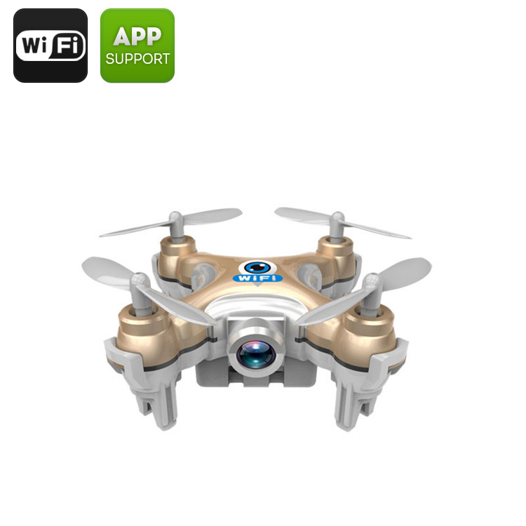 Wholesale CX-10W Mini Wi-Fi FPV Drone with Camera and 6 Axis Gyro for Android/iOS