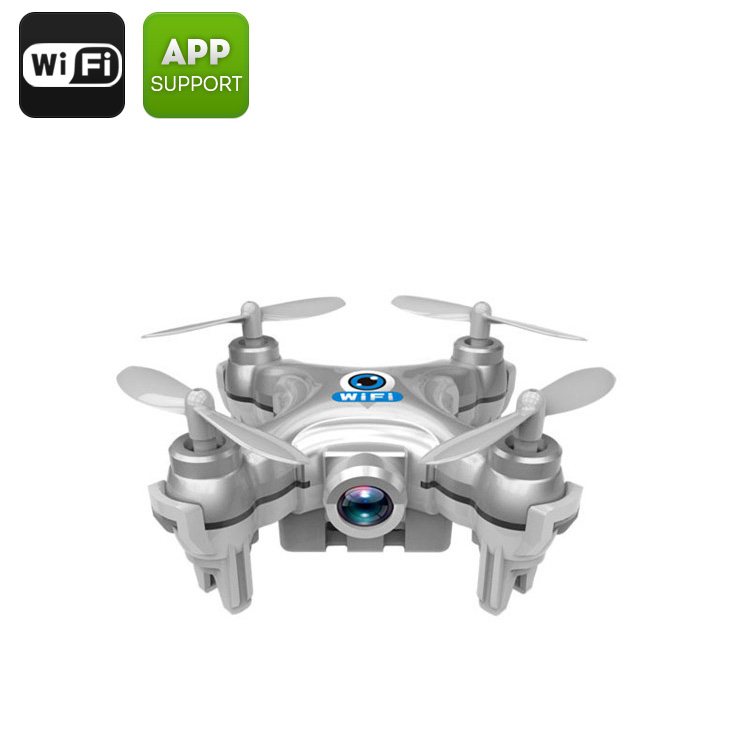 Wholesale CX-10W Mini Wi-Fi FPV Drone with Camera and 6 Axis Gyro for Android/iOS - Grey