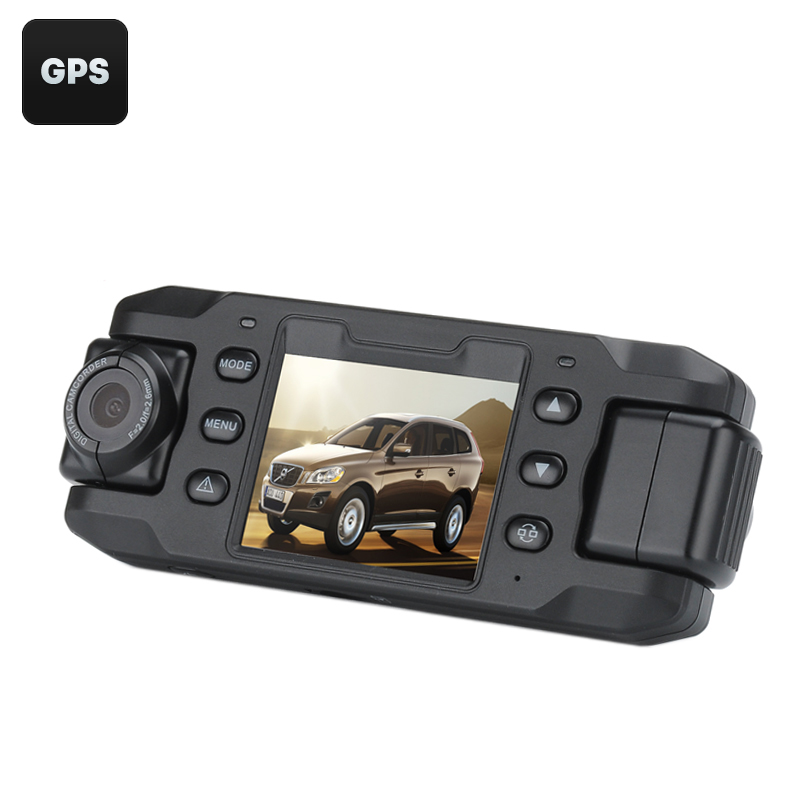 Wholesale Carcam III Car DVR with GPS and 2 Rotatable Cameras (Auto Recording, G-Sensor, Motion Detection)