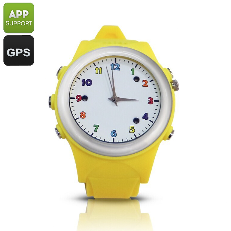 Wholesale Kids GPS Tracker Watch Phone (Digital Fence, SOS, Wireless Charging, Yellow)