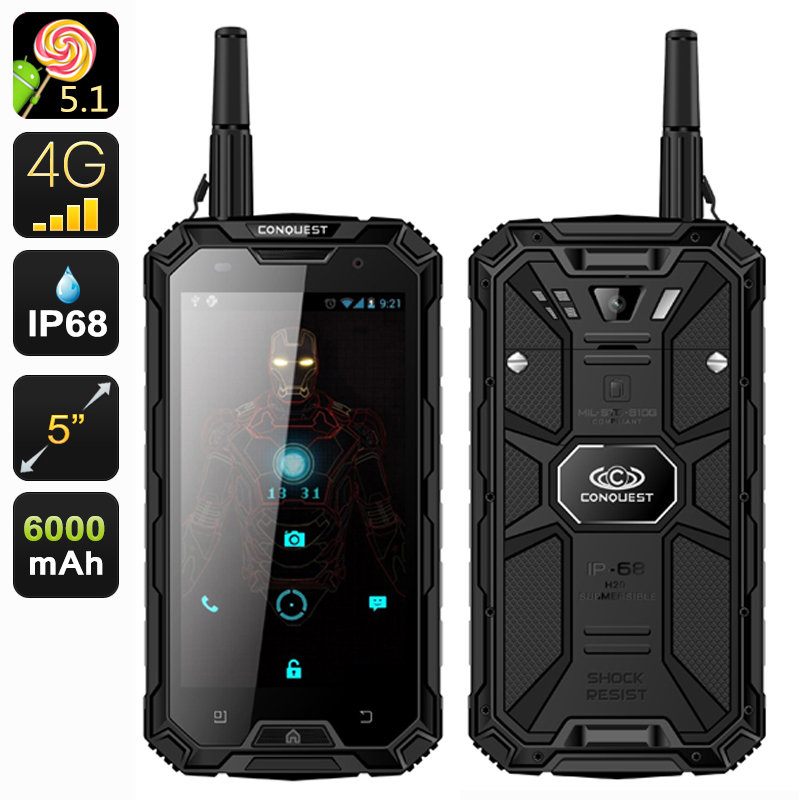 Conquest S8 Pro Outdoor Smartphone Walkie Talkie 4g