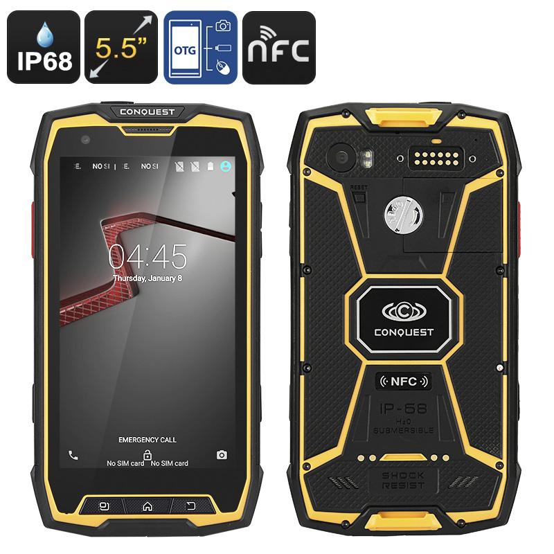 Conquest S9 Waterproof Octa Core Android Phone Ip68
