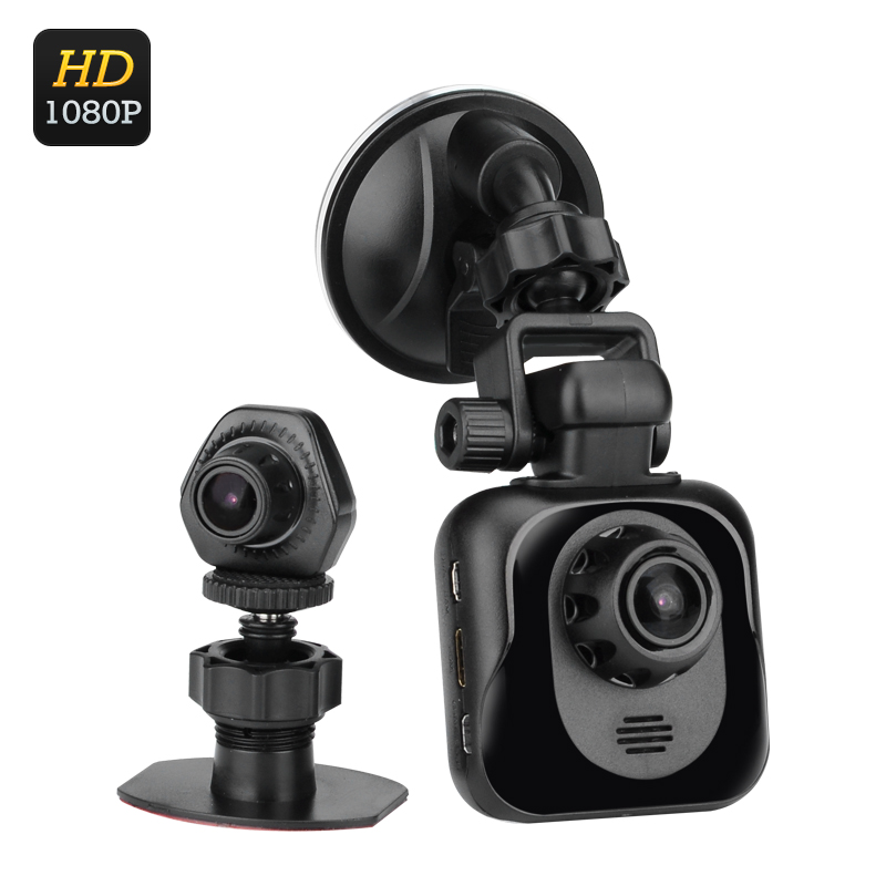 Wholesale D35 Full HD Car DVR with Rearview Camera (1080P, Wide Angle, GPS, G-Sensor, Motion Detection, Auto Recording)