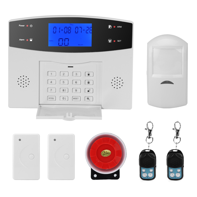 Wholesale Danmini Home Office Security Alarm System (PIR Motion Detection, Door/Window Sensors, Remote Control, SMS, 110dB Siren)