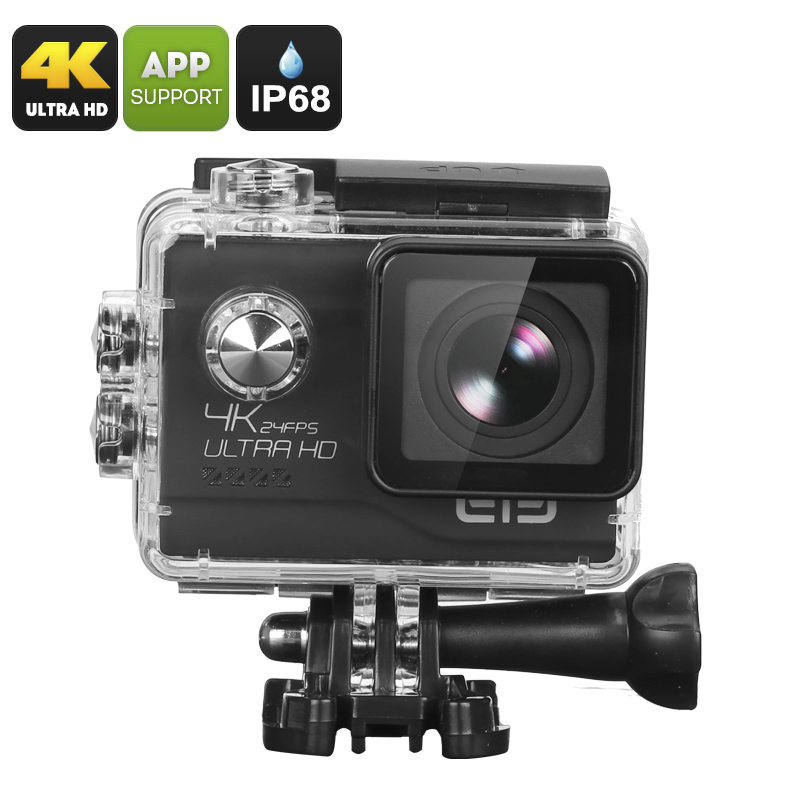 Wholesale Elephone EleCam Explorer Elite Sport Action Camera (IP68 Waterproof, 20MP Photo + 4K Video, Black)