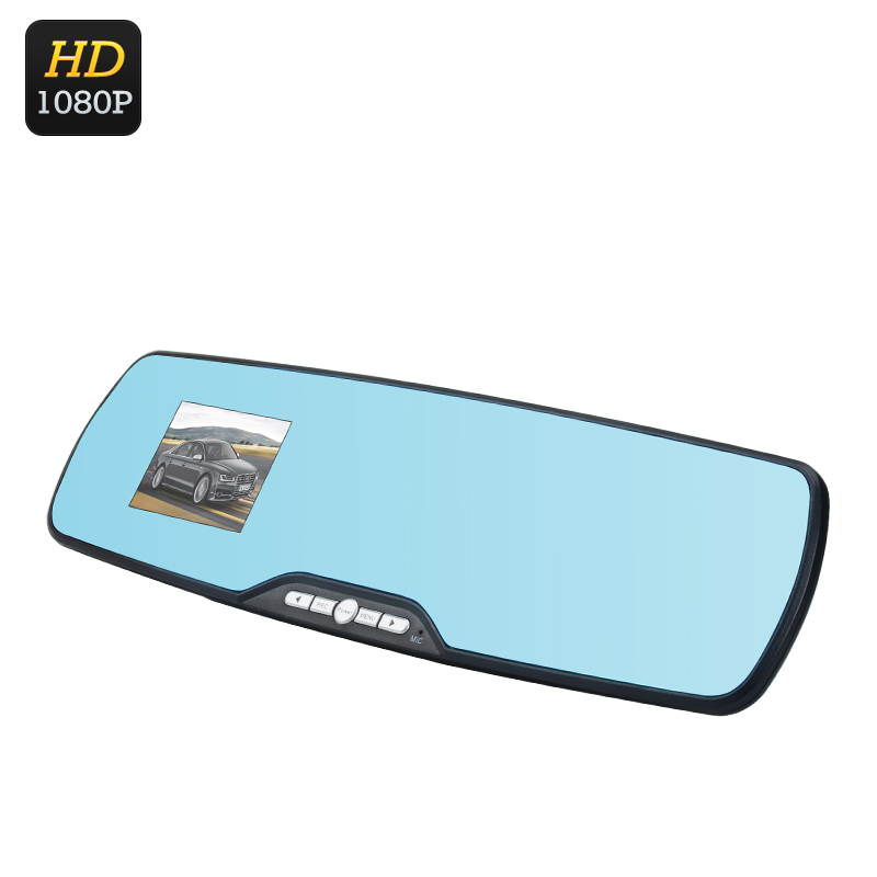 Wholesale Full HD Rearview Mirror DVR Dash Cam (1080p, 120 Degree View, 2.7 Inch, G-Sensor, Motion Detection, Loop Recording)