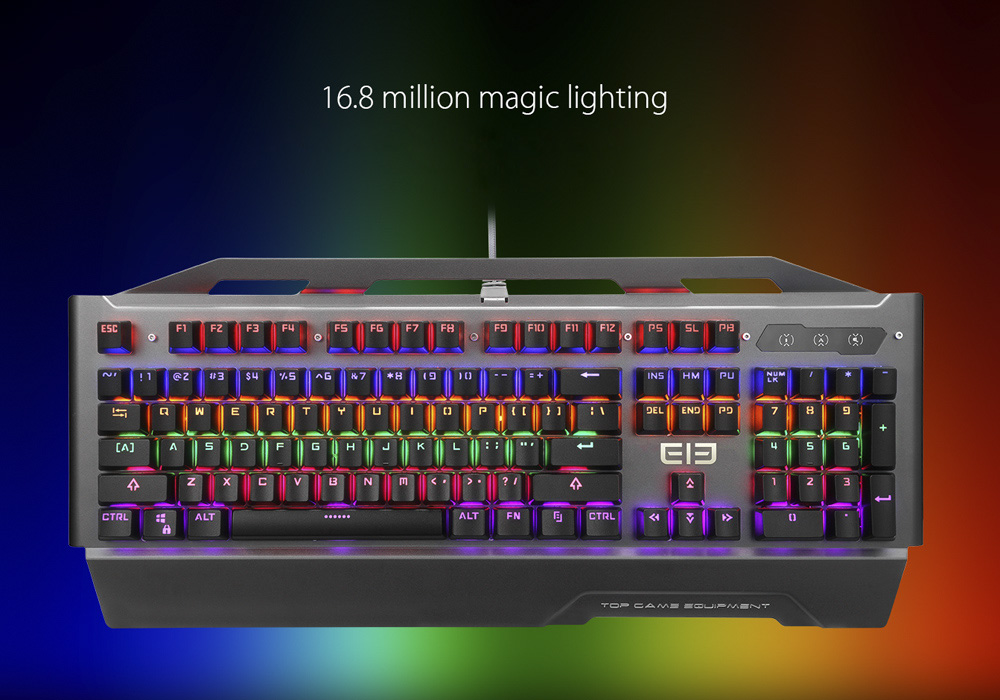 Wholesale Game2 LED Gaming Keyboard (QWERTY, 104 Key, Mechanical, TTC Switch, 14 Lighting Mode, 16.8 Million Colors)