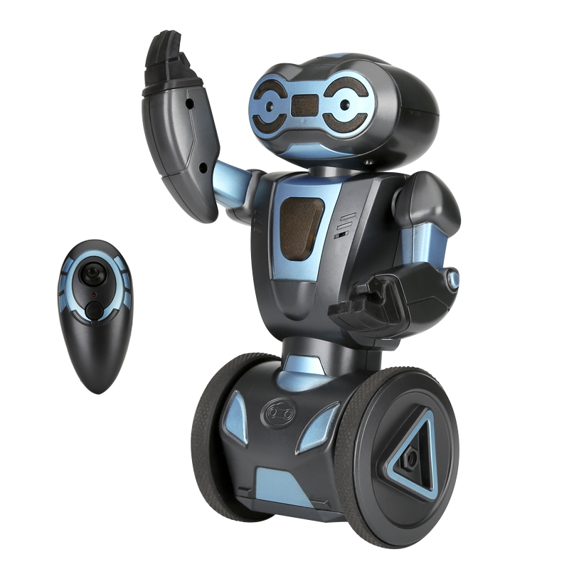 Wholesale HG Auto Balancing Futuristic RC Stunt Robot with Remote + Gesture Control - Black
