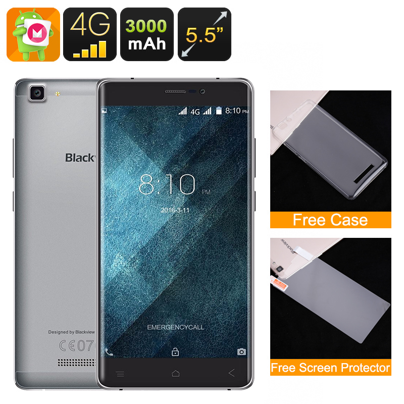 Wholesale Blackview A8 Max 5.5 Inch Android Smartphone (4G, Dual IMEI, 2G RAM, Quad-Core CPU, 16GB, Grey)