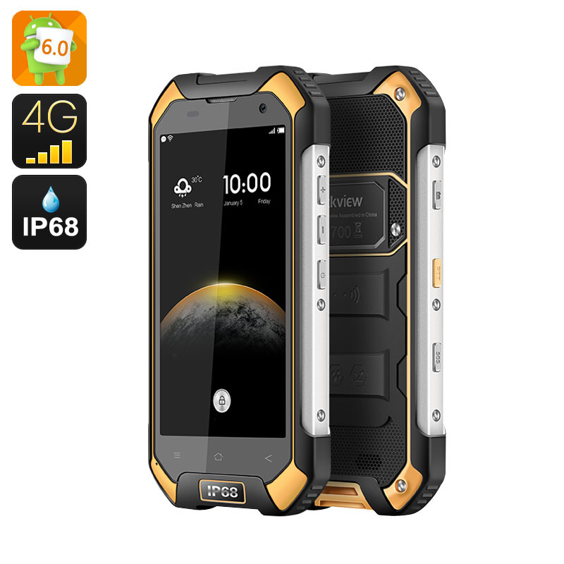 Wholesale Blackview BV6000S IP68 Waterproof Android 6.0 Phone (4G, 4.7 Inch, NFC, Quad Core CPU, 2GB RAM, 16GB, Orange)