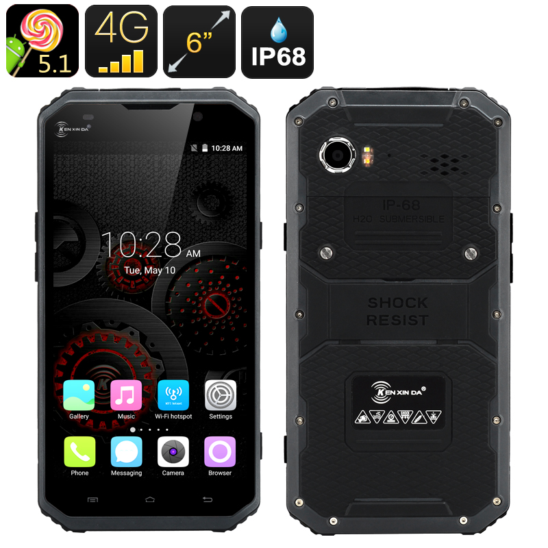 Wholesale KEN XIN DA PROOFINGS W9 Rugged 6 Inch FHD Android Phone (IP68 Waterproof, Octa Core 64 Bit, Gray)