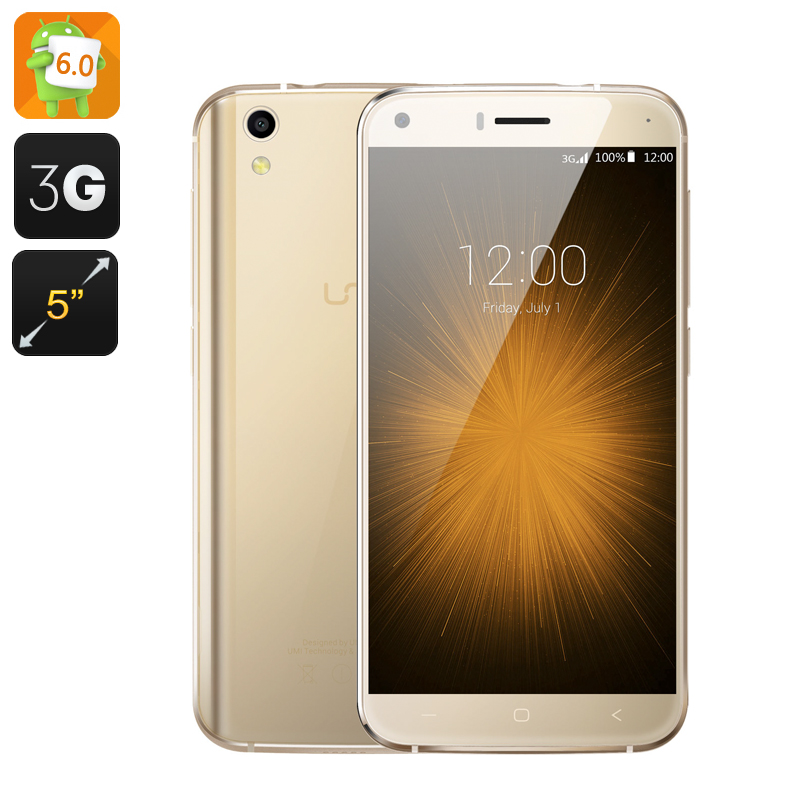 Wholesale UMI London Toughened 5 Inch Android 6.0 Smartphone (Quad Core CPU, Gold)
