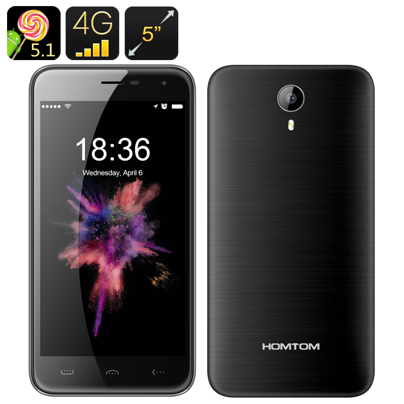 Wholesale HOMTOM HT3 Pro 5 Inch HD Android Phone (4G, Dual SIM, Quad Core CPU, GPS, Smart Wake, Gesture Sensing, 16GB, Grey)