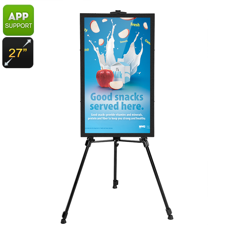 Wholesale Intelligent 27 Inches Android Commercial Sign with Audio Out and iOS/Android DIY