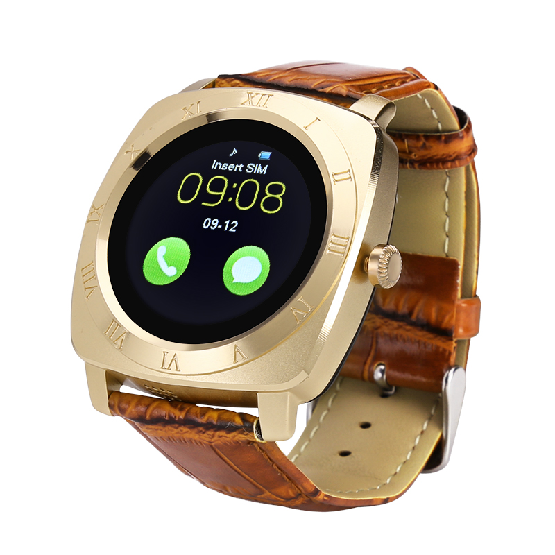 Wholesale Iradish X3 1.33 Inch Smart Watch Phone with Camera and Pedometer - Gold