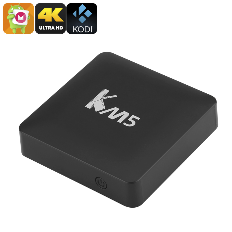 Wholesale KM5 Android 6.0 TV Box (4K x 2K, Quad Core CPU, Dual Band Wi-Fi)