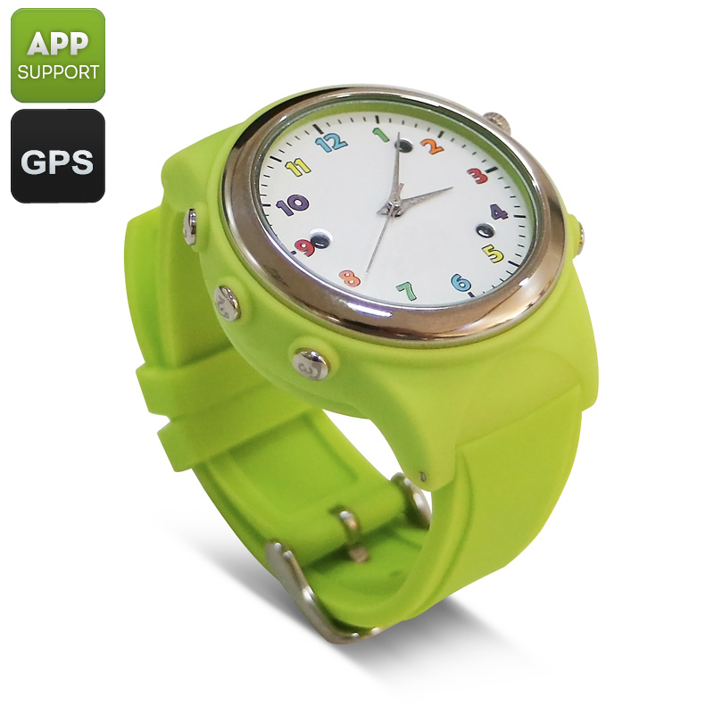 Wholesale Kids GPS Tracker Watch Phone (Digital Fence, SOS, Wireless Charging, Green)