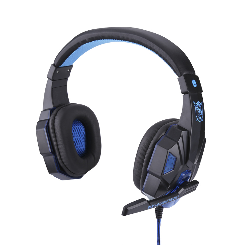 Wholesale LED Gaming Stereo Headphones (Retractable Mic, Built-in LED, Comfortable Padding, Durable Audio Lead)
