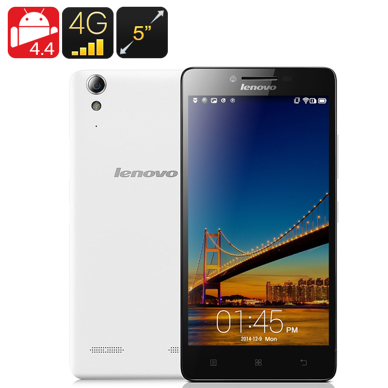 Wholesale Lenovo K3 5 Inch 4G Dual SIM Android Smartphone (Quad Core CPU, 16GB, White)