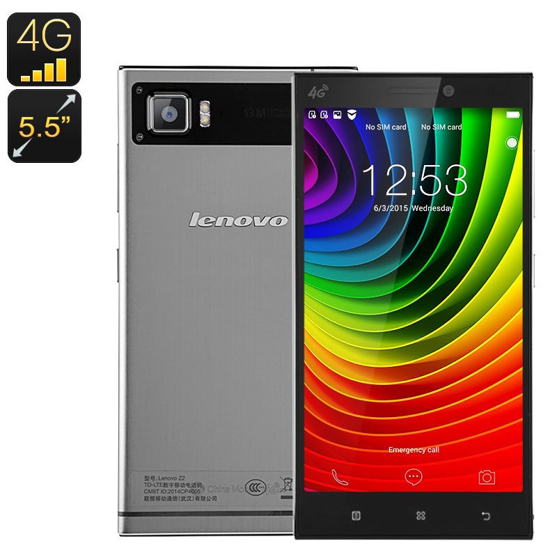 Wholesale Lenovo Vibe Z2 64Bit Android Smartphone (5.5 Inch FHD, 2GB RAM, 4G, 13MP Camera, Dual SIM, 32GB, Black)