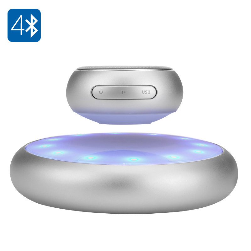 Wholesale Levitating Bluetooth 4.1 Speaker (5W Speaker, 10 Meter Range, 800mAh, Silver)