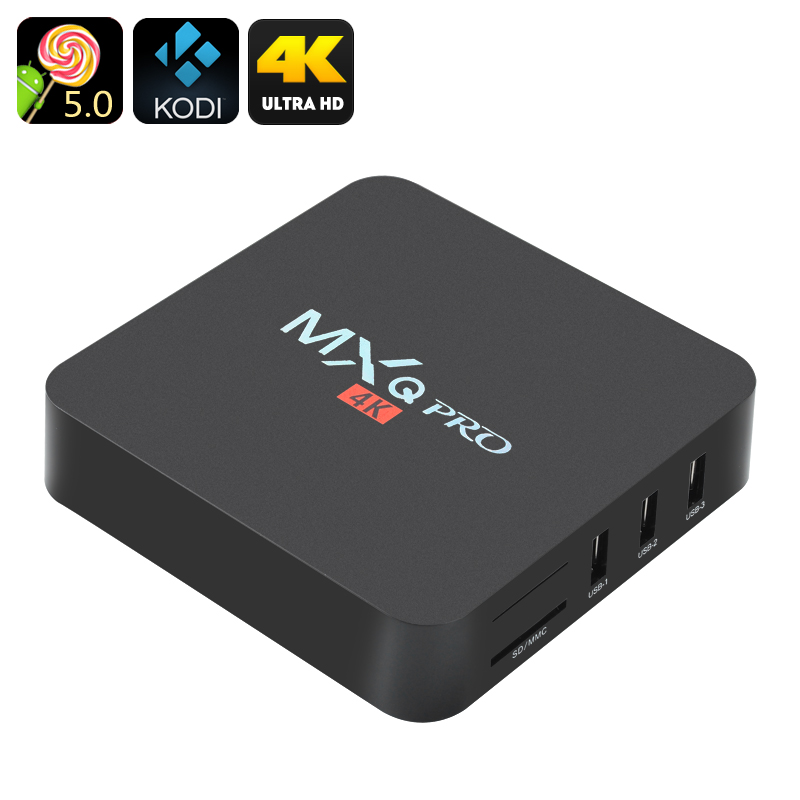 Wholesale MXQ Pro 4K Ultra HD Android TV Box (HDMI, 64Bit Quad Core CPU, H