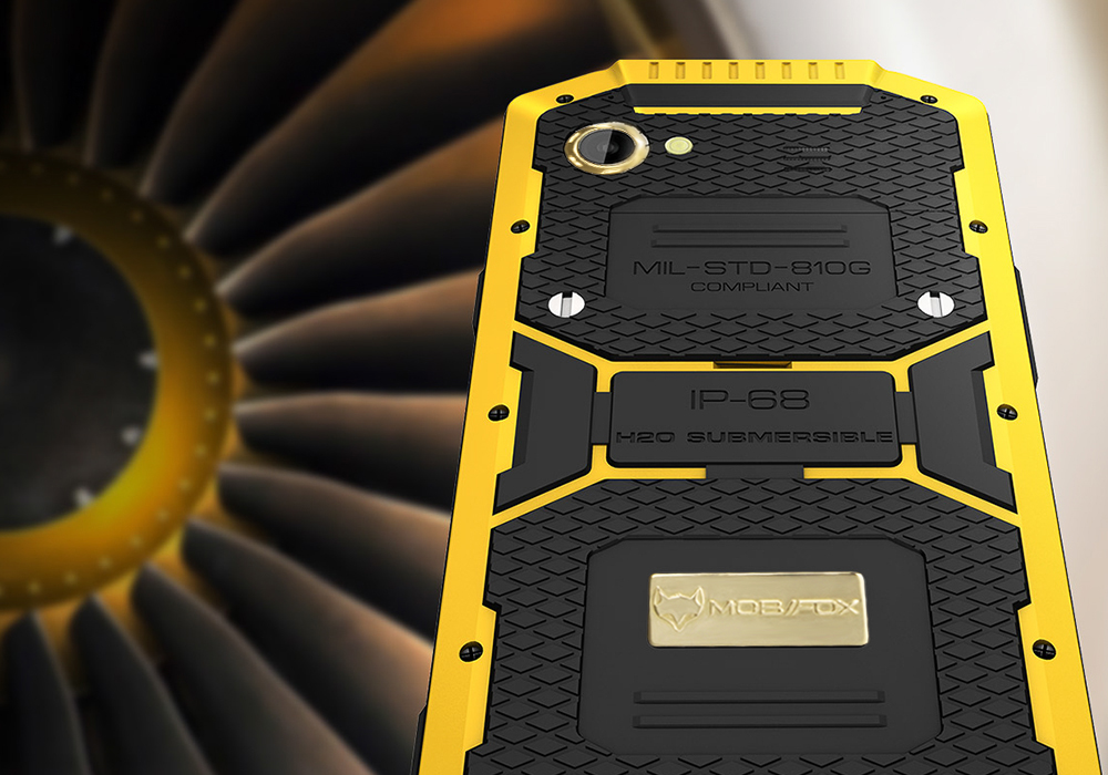 Mfox A10 Pro Gold 6 Inch 1080p Rugged Smartphone 2 37g