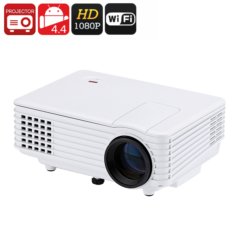 Wholesale Mini Android LED Projector (Wi-Fi, 1080p HD, 800 Lumens)