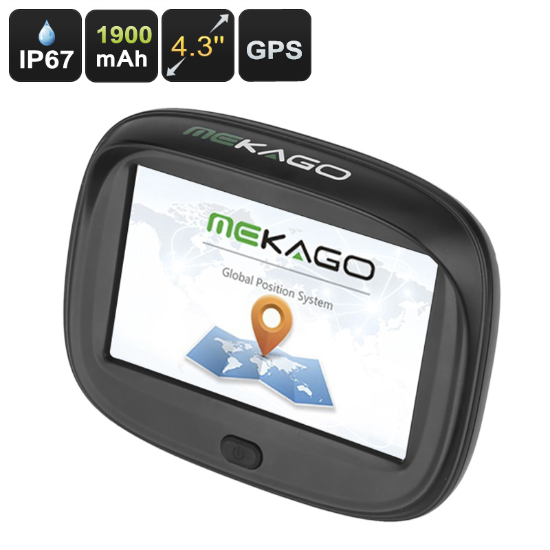 Wholesale IPX7 Waterproof Motorcycle GPS Navigator (High Accuracy, 4.3 Inch Touchscreen, Windows CE 6.0, 8GB, 1900mAh)