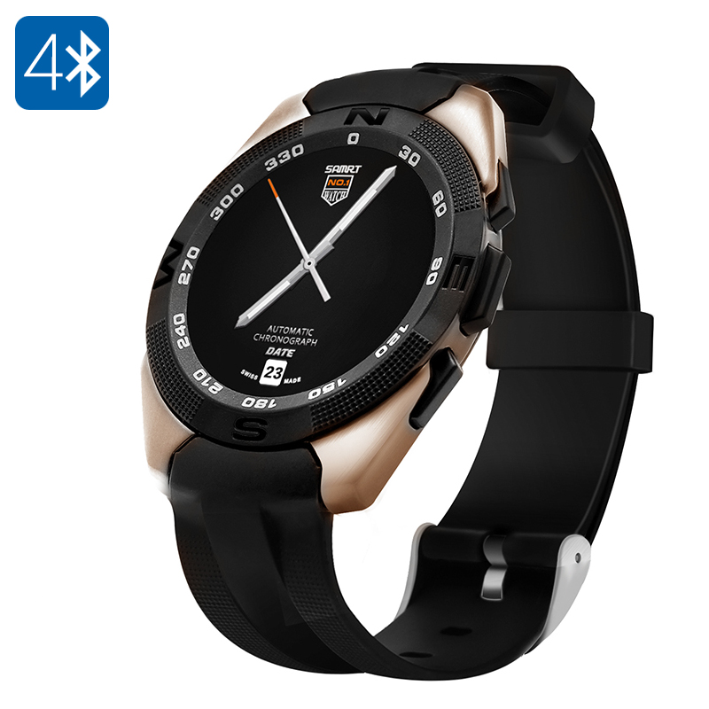 Wholesale NO.1 G5 Smart Watch (Bluetooth 4.0, Pedometer, Sleep Monitor, Heart Rate Sensor, Gold)